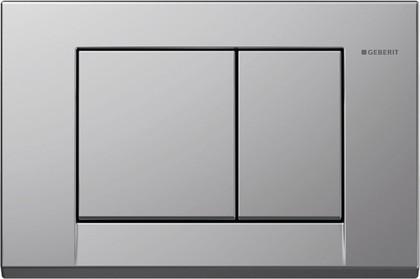 Кнопка пластиковая двойного смыва для инсталляции, матовый хром Geberit BOLERO 115.777.46.1