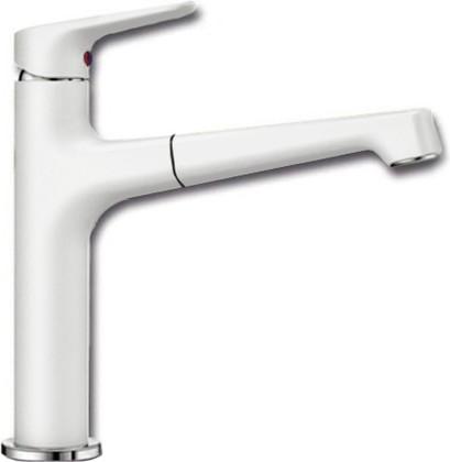 Смеситель кухонный однорычажный с высоким выдвижным изливом, белый Blanco FELISA-S 520340