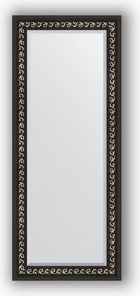 Зеркало 60x145см с фацетом 30мм в багетной раме чёрный ардеко Evoform BY 1165