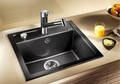 Кухонная мойка без крыла, с клапаном-автоматом, гранит, жемчужный Blanco Dalago 5 520544