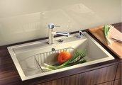 Кухонная мойка без крыла, с клапаном-автоматом, гранит, жасмин Blanco Dalago 8 516634