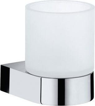 Стакан хрустальный матовый с настенным хромированным держателем Keuco EDITION 300 30050019000