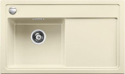 Кухонная мойка чаша слева, крыло справа, с клапаном-автоматом, гранит, жасмин Blanco Zenar 45 S 519266