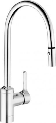 Смеситель для кухни с выдвижным изливом и отводом для посудомоечной машины, хром Kludi BINGO STAR 428520578
