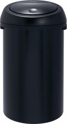 Ведро для мусора 50л чёрное матовое Brabantia TOUCH BIN 391729