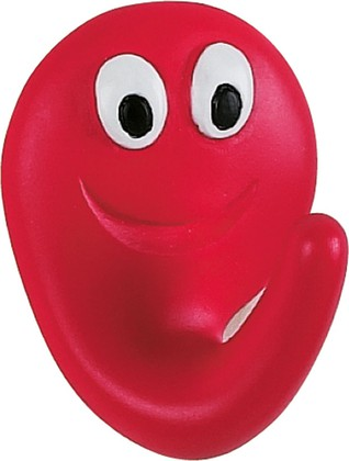 Крючок самоклеящийся 2шт красный Spirella SMILE 1006761