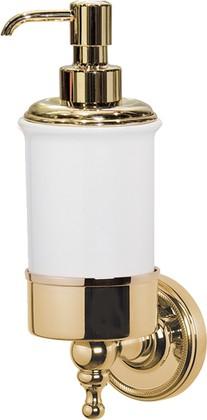 Дозатор для жидкого мыла TW Bristol настенный, керамика, золото TWBR108oro