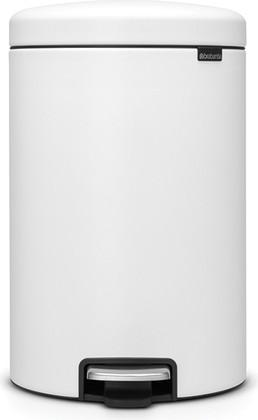 Мусорный бак с педалью 20л, минерально-белый Brabantia Newicon 114168