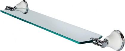 Полка для ванной стеклянная 71см, белый/хром TW Harmony TWHA018bi/cr