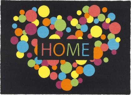Коврик придверный Golze Young Star Home 40х60, разноцветное сердечко 1693-15-03