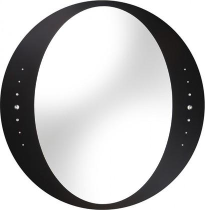 Зеркало 60x60см круглое с чёрной окантовкой и кристаллами Swarovski Dubiel Vitrum IDEA 5905241000954