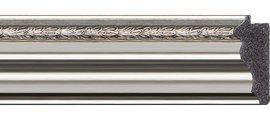 Зеркало 56x136см с фацетом 30мм в багетной раме римское серебро Evoform BY 1257