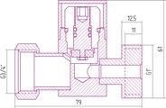 Вентиль прямой Сунержа 3D, под шестигранник 00-1301-0134