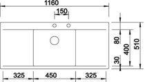 BLANCO FLOW 5 S-IF Схема с размерами вид сверху