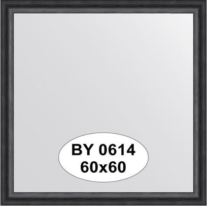 Зеркало 60x60см в багетной раме дуб чёрный Evoform BY 0614