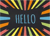 Коврик придверный 40х60см HELLO разноцветные лучи, полиамид Golze Young Star 1693-15-01