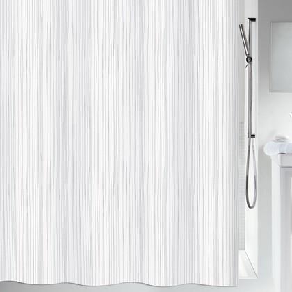 Штора для ванны 180x200см текстильная белая Spirella Raya 1014418