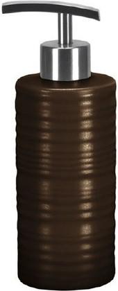 Ёмкость для жидкого мыла высокая керамическая коричневая Kleine Wolke Sahara 5046301854