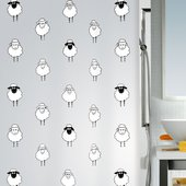 Штора для ванной Spirella Lana, 180x200см, полиэтилен, чёрно-белый 1008193