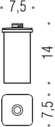 Запасная стеклянная колба для дозатора Colombo LULU B9365