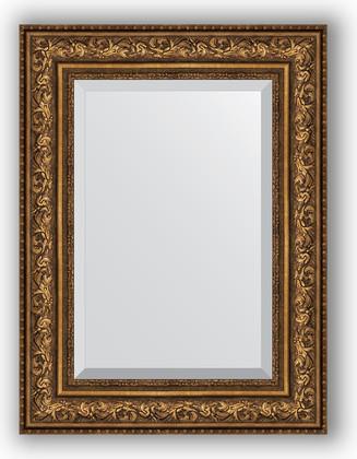 Зеркало с фацетом в багетной раме 60x80см виньетка состаренная бронза 109мм Evoform BY 3401