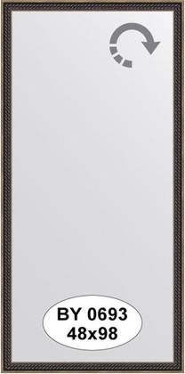 Зеркало 48x98см в багетной раме витой махагон Evoform BY 0693
