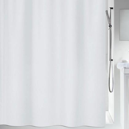 Штора для ванной 180x200см текстильная белая Spirella Maya 1010560