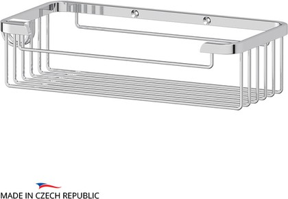 Полочка-решётка для ванной прямоугольная глубокая, 6х10х20см FBS RYN 019