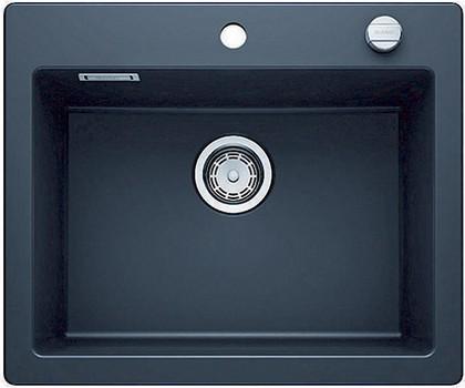 Кухонная мойка без крыла, с клапаном-автоматом, керамика, черный Blanco Palona 6 520929