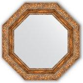 Зеркало Evoform Octagon 554x554 в багетной раме 85мм, виньетка античная бронза BY 3778