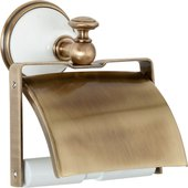 Держатель туалетной бумаги TW Harmony с крышкой, белый-бронза TWHA219bi/br
