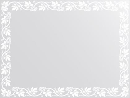 Зеркало для ванной с орнаментом 80x60см FBS CZ 0761