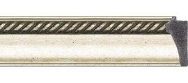 Зеркало 53x133см с фацетом 30мм в багетной раме старое серебро с плетением Evoform BY 1152