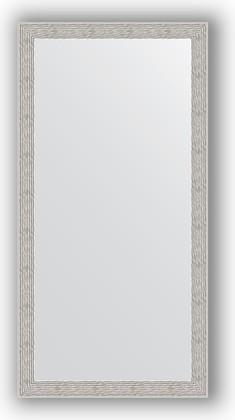 Зеркало в багетной раме 51x101см волна алюминий 46мм Evoform BY 3070