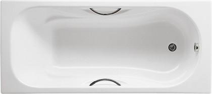 Ванна чугунная 170x75см с отверстиями для ручек белая, Antislip Roca MALIBU 2309G000R