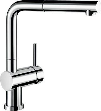 Кухонный смеситель для установки перед окном однорычажный с выдвижным высоким изливом, хром Blanco LINUS-S-F 514023