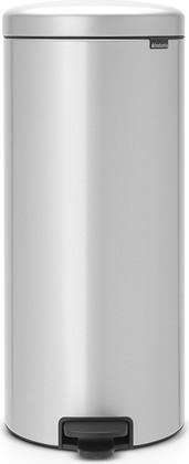 Мусорный бак с педалью 30л, серый металлик Brabantia Newicon 114724