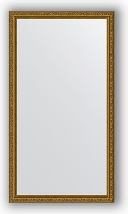 Зеркало в багетной раме 74x134см виньетка состаренное золото 56мм Evoform BY 3295