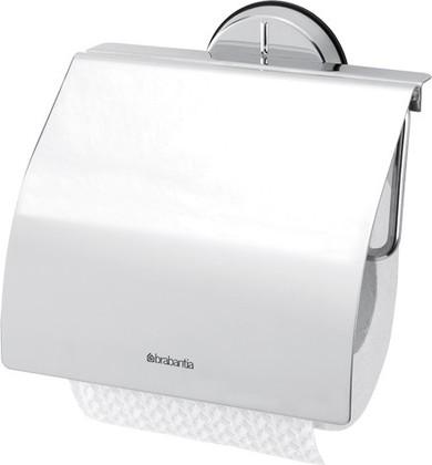Держатель для туалетной бумаги с крышкой, полированная сталь Brabantia Profile 427602