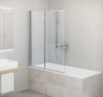 Шторка на ванну Roltechnik TZVL2 левая, 100x140см, прозрачное стекло, хром 742-100000L-00-02