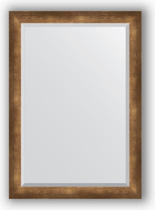 Зеркало 72x102см с фацетом 30мм в багетной раме старая бронза Evoform BY 1198