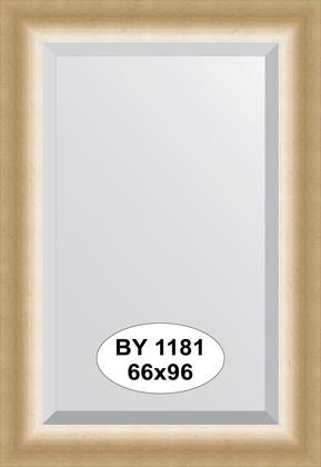 Зеркало 66x96см с фацетом 30мм в багетной раме травлёное золото Evoform BY 1181