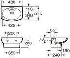 Керамическая компактная раковина 480x375мм, белая Roca DAMA SENSO 327514000