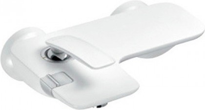 Смеситель однорычажный с изливом для ванны, белый / хром Kludi BALANCE 524459175
