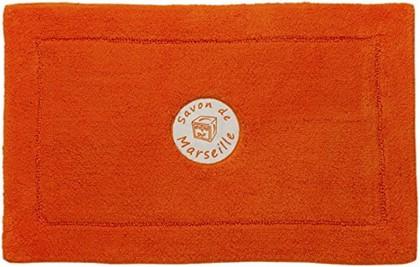Коврик для ванной комнаты хлопковый 50x80см оранжевый Spirella Savon De Marseille Frioul 4007288
