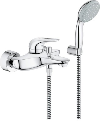 Смеситель для ванны с изливом и ручным душем, хром GROHE EUROSTYLE 33592003