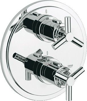 Термостат для душа встраиваемый без подключения шланга и без встраиваемого механизма, хром Grohe ATRIO 19394000