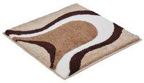 Коврик для ванной комнаты Grund Colani 11, 60x60см, полиакрил, бежевый 2381.64.4203