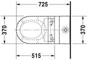 Чаша напольного унитаза, выпуск Vario Duravit STARCK 2 21295900001
