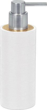 Ёмкость для жидкого мыла полирезин/бамбук, белый Kleine Wolke Kyoto 5079100854